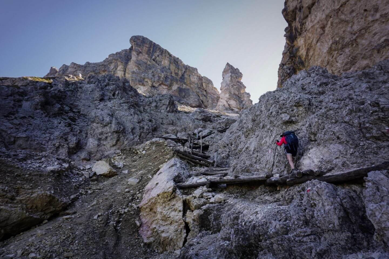 Trail 17B to Forcella Piza (Pizascharte, Furcela Piza), Val Gardena Dolomites