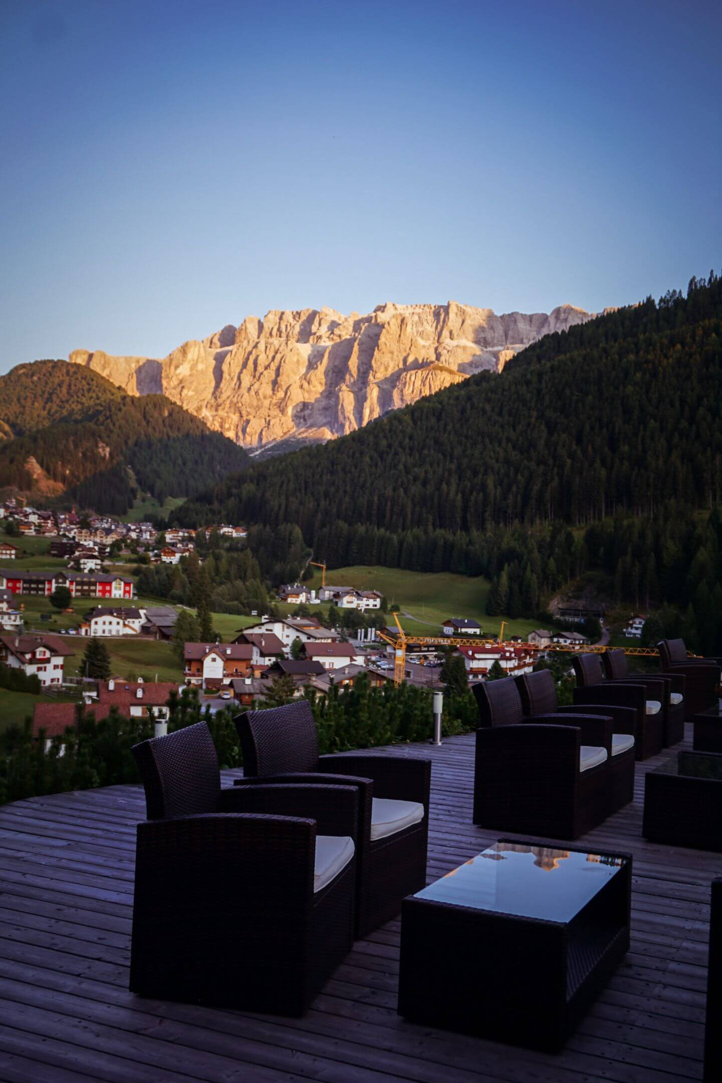 Hotel Rodella outdoor terrace - Best hotels in Selva, Val Gardena, Dolomites, Italy