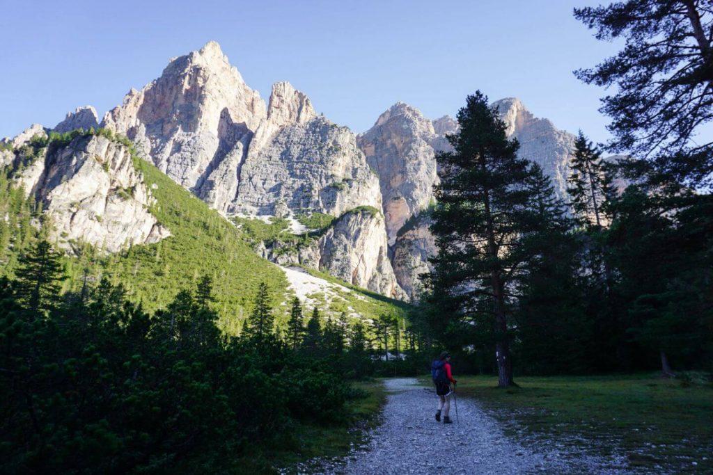 Capanna Alpina to Rifugio Fanes Day Hike, Dolomites, Italy