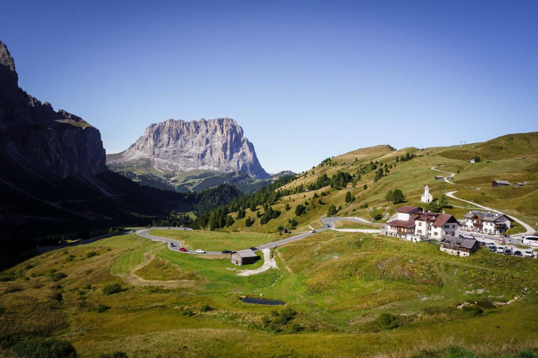 Passo Gardena, Cima Pisciadù Day Hike Trailhead, Dolomites, Italy