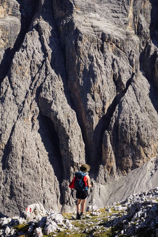 Descent to Val de Misdé (Val de Mezdi), Sella Mountains, Dolomites