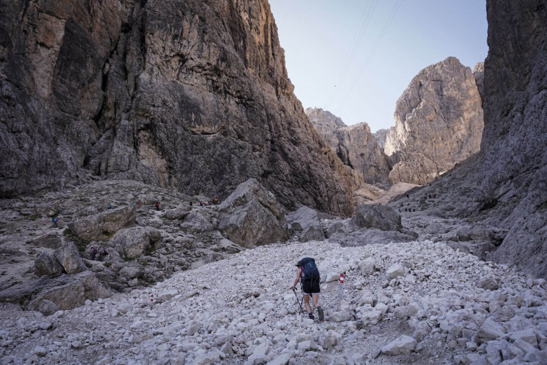 Trail 666 Pisciadù Hiking Trail, Dolomites, Italy