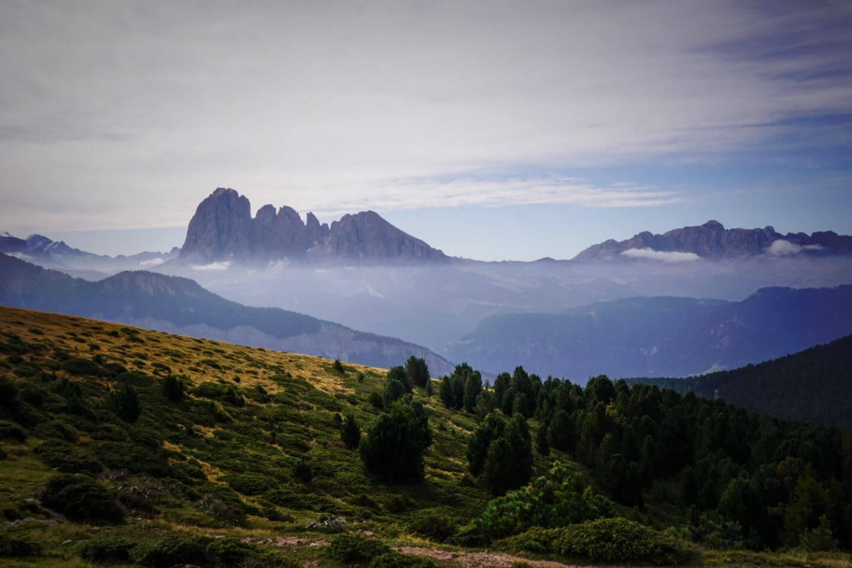 Langkofel from Resciesa Alp, Ortisei Day Hike, Val Gardena, Dolomites