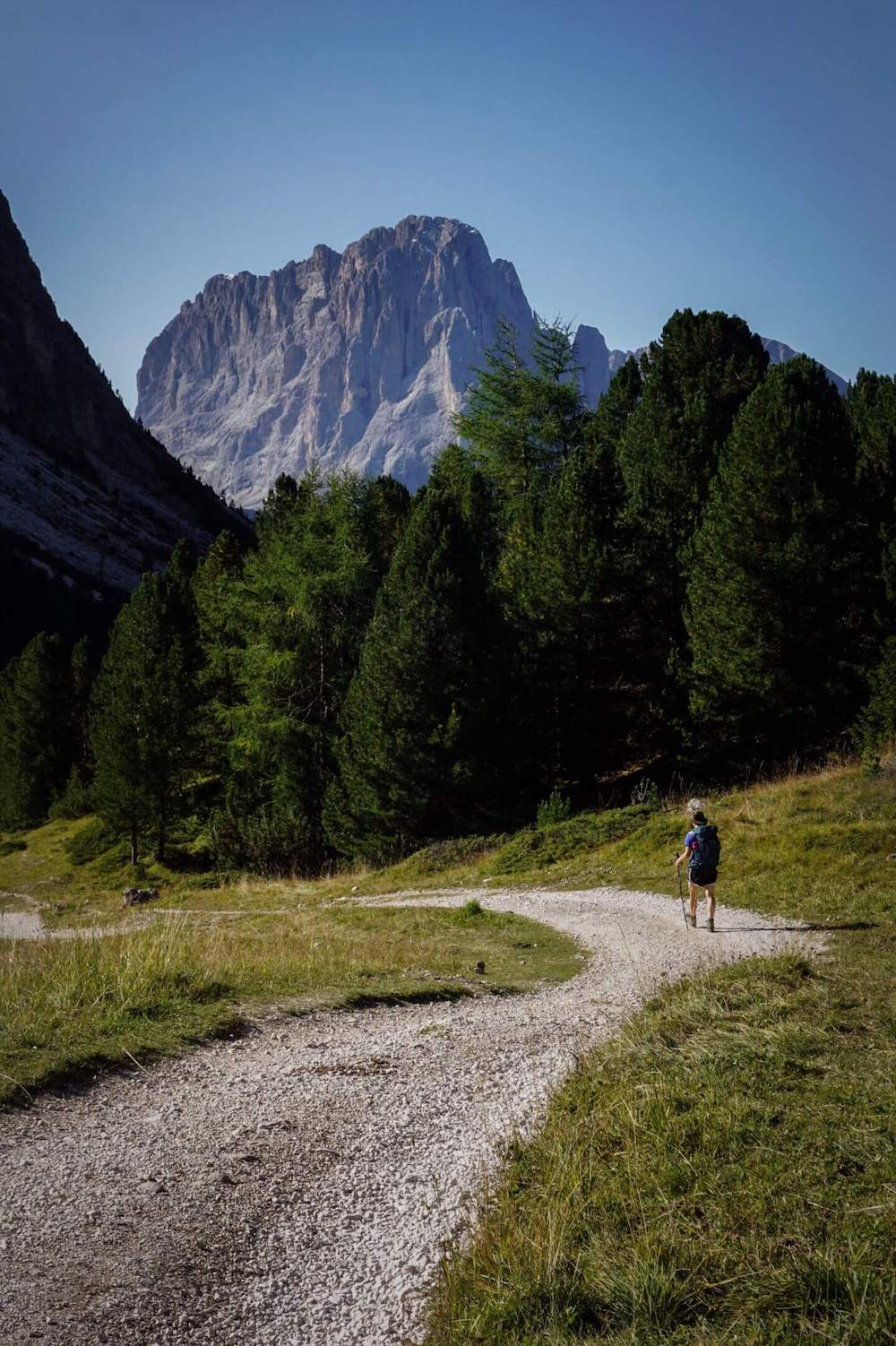 Walking to 17B from Rifugio Firenze, Val Gardena, Dolomites