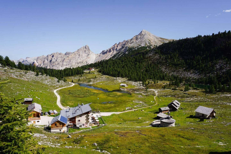Lavarella mountain hut, Trail 12, Dolomites, Italy