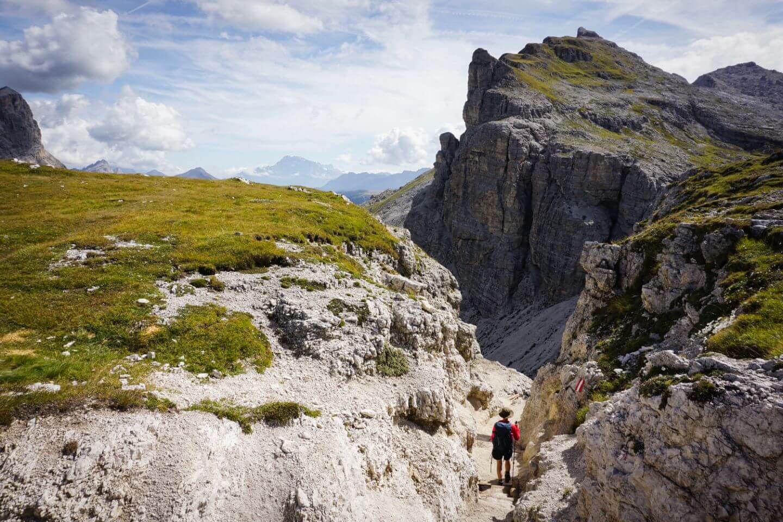 La Villa to Colfosco Day Hike, across Puez-Odle mountains, Dolomites