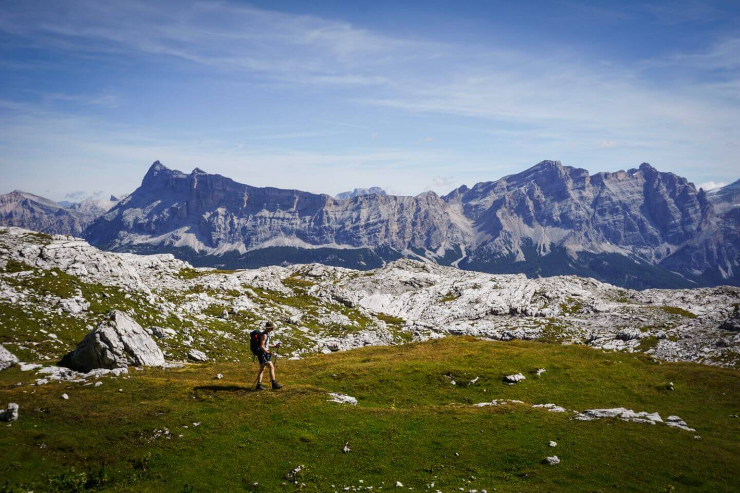 Fanes mountains from Puez-Odle, Dolomites Day Hike