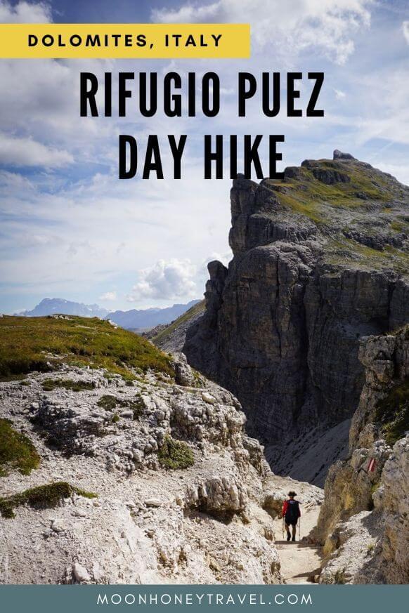 Rifugio Puez Day Hike, Italian Dolomites