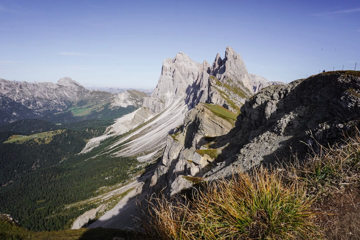 Seceda Ridgeline, Ortisei, Val Gardena - where to stay in the Dolomites in summer