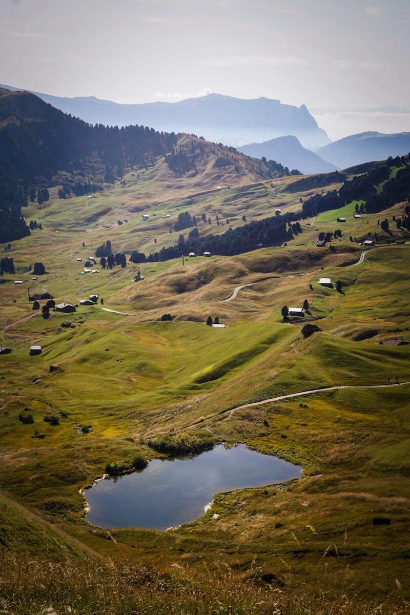 Hiking in the Val Gardena Dolomites in September