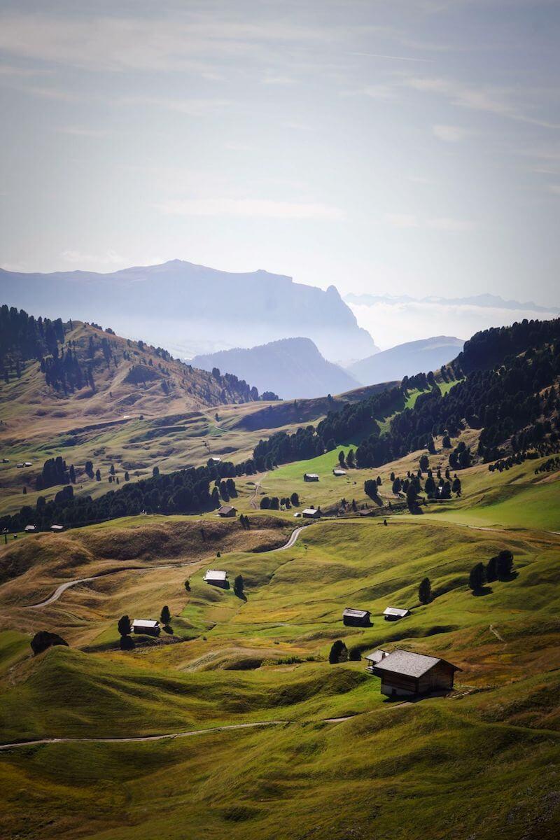 Val Gardena Dolomites in September