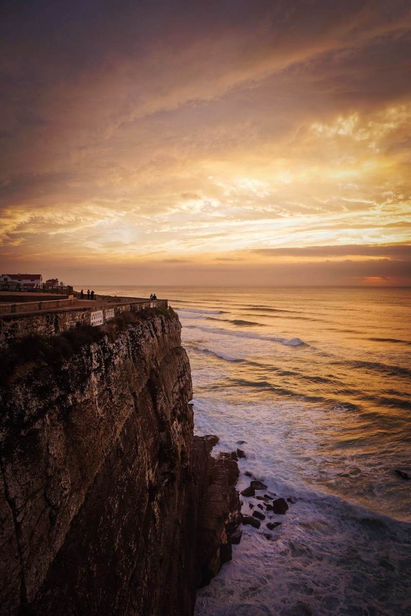 Azenhas do Mar at Sunset, Sintra Coast walk, Portugal