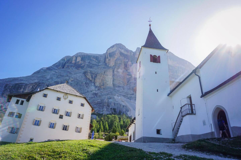 La Crusc Pilgrimage Church, Badia, Dolomites