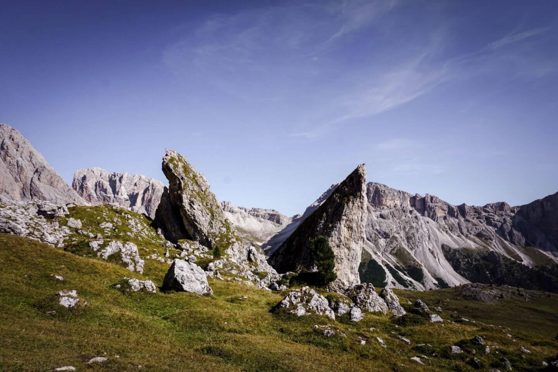 Peralongia, Val Gardena, Dolomites in September