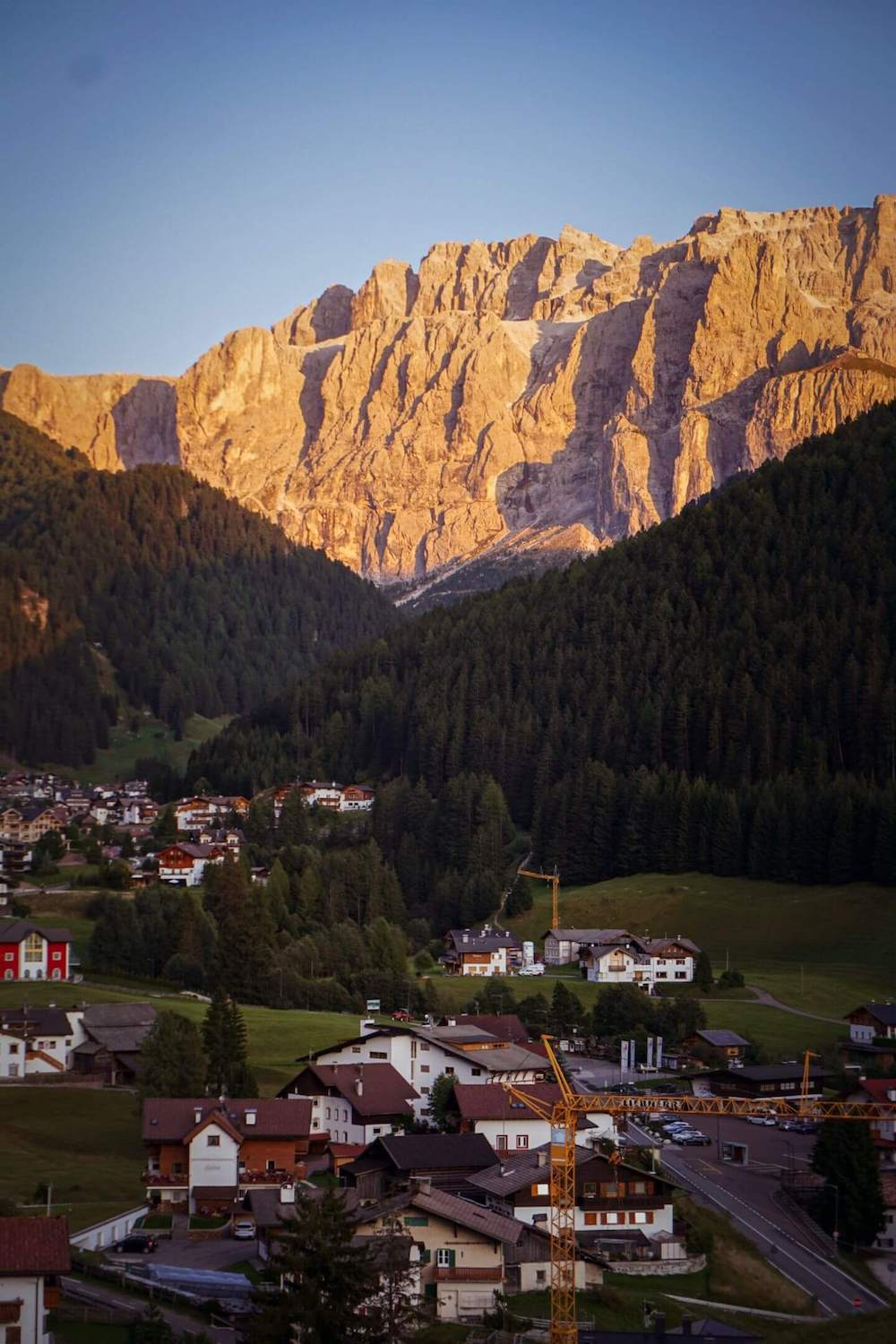 Sella at Sunset from Hotel Rodella, Selva di Val Gardena