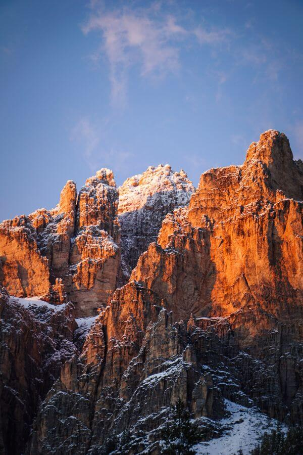 Fanes Group, View from Camping Sass Dlacia, Best Places to Stay in the Dolomites