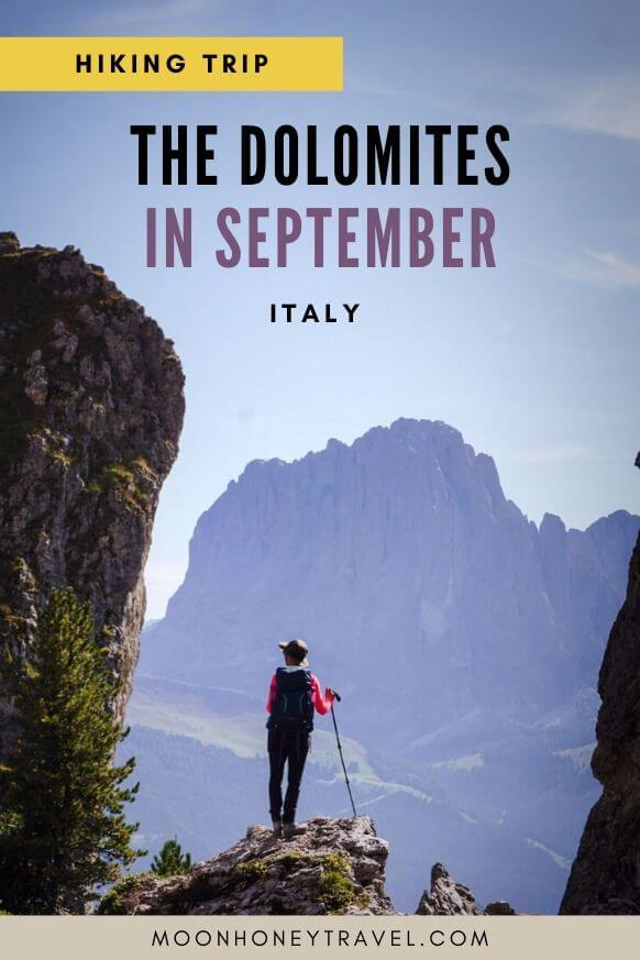 HIking in the Dolomites in September