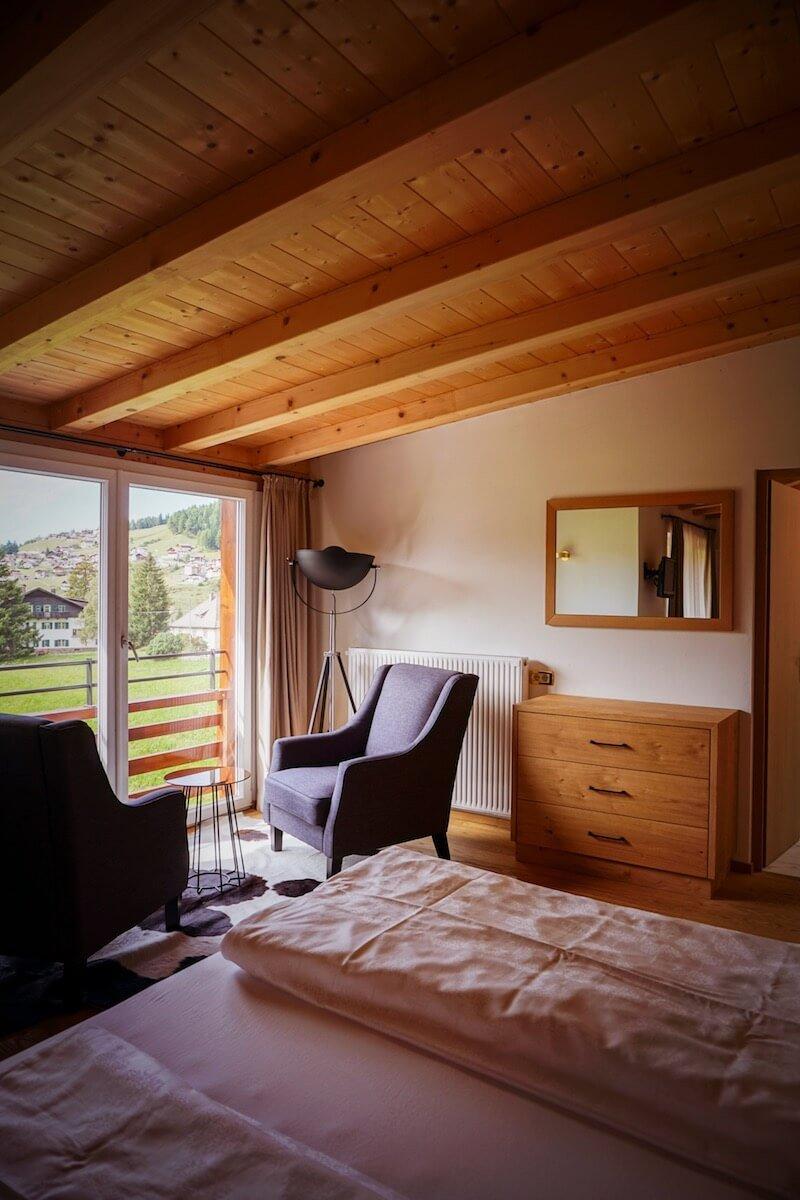 Hotel Rodella Bedroom, Dolomites in September