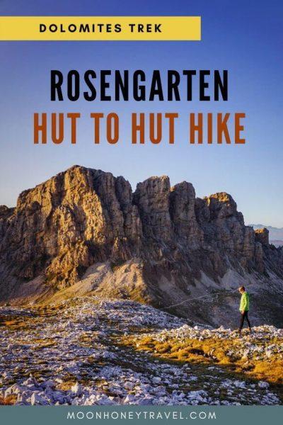 Catinaccio Rosengarten Dolomites 3 Day Hut to Hut Hike