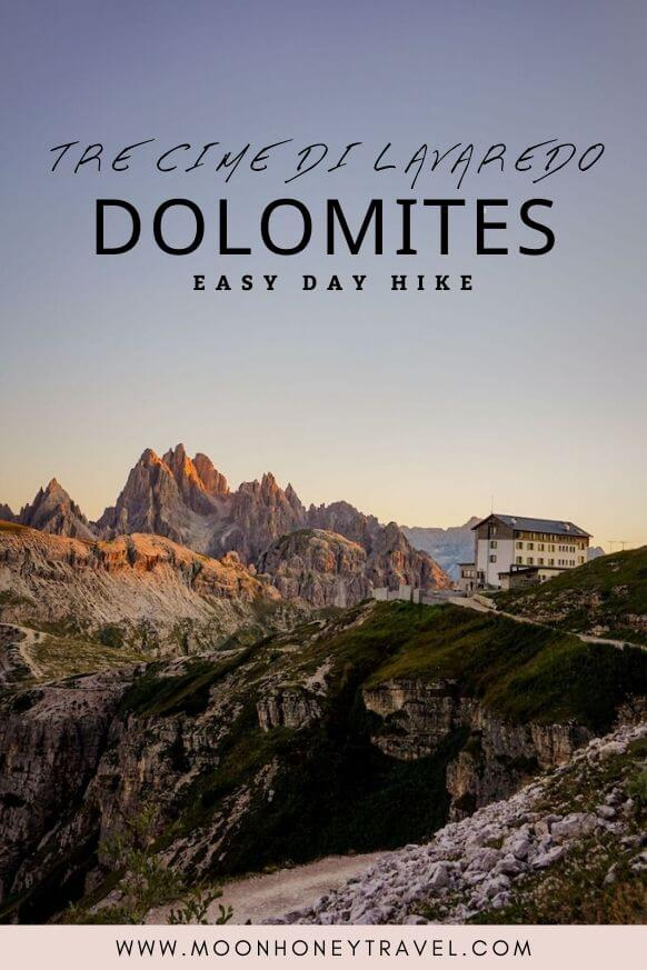 Tre Cime di Lavaredo (Drei Zinnen) Short Day Hike, Dolomites, Italy