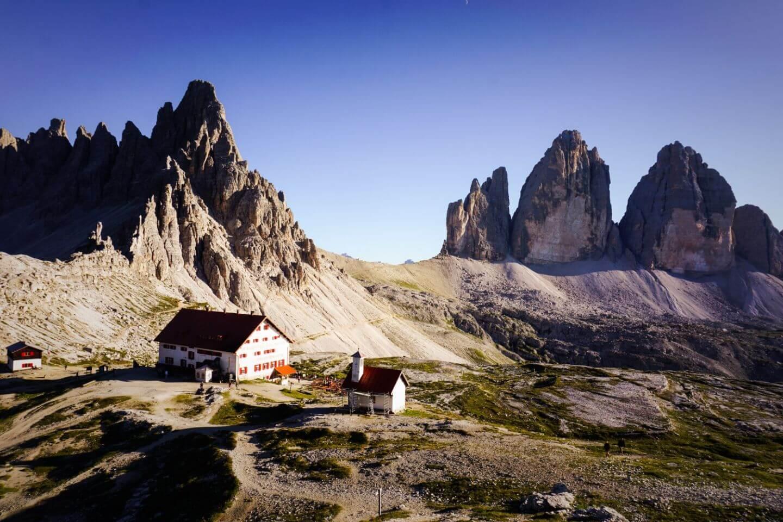 Dreizinnenhütte, Rifugio Locatelli, Tre Cime di Lavaredo, Dolomites
