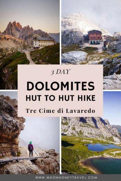 Dolomites Hut to Hut Hike around Tre Cime di Lavaredo