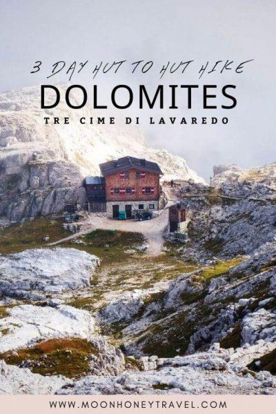 Trekking Tre Cime di Lavaredo: 3 Day Hut to Hut Hike, Sexten Dolomites