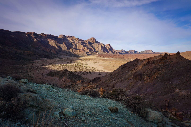 Driving across Teide National Park