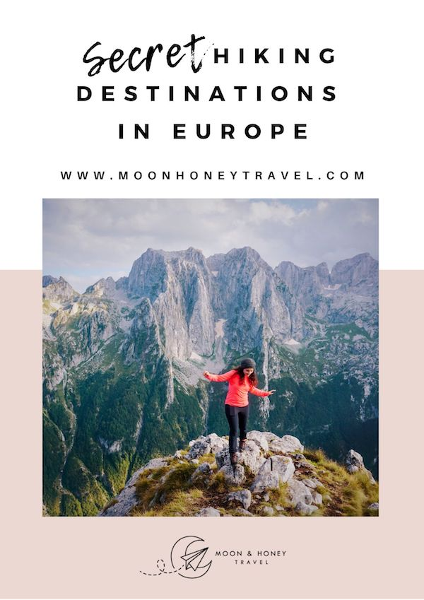 Secret Hiking Destinations in Europe - Free Ebook by Moon & Honey Travel