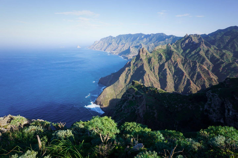Hiking in Anaga Rural Park, Tenerife, Spain