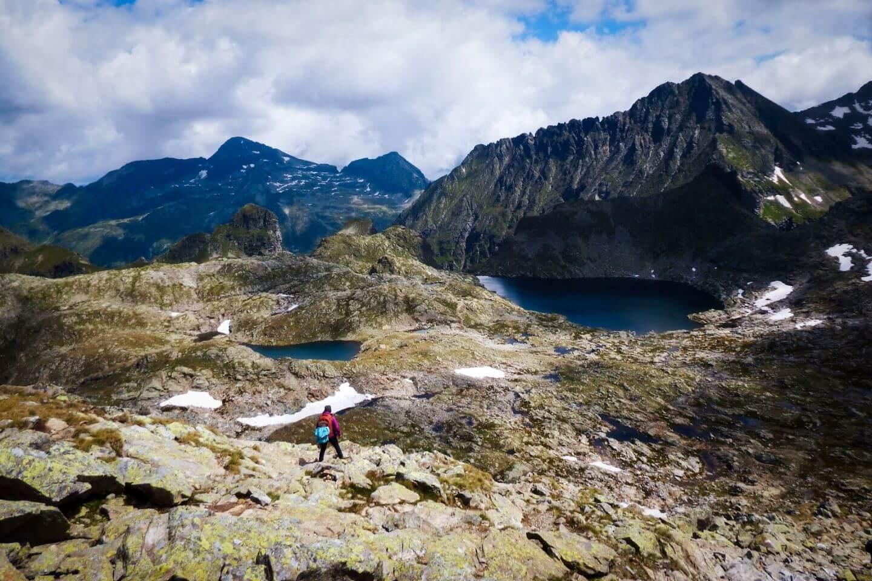 Wandern beim Klafferkessel in den Schladminger Tauern, Österreich