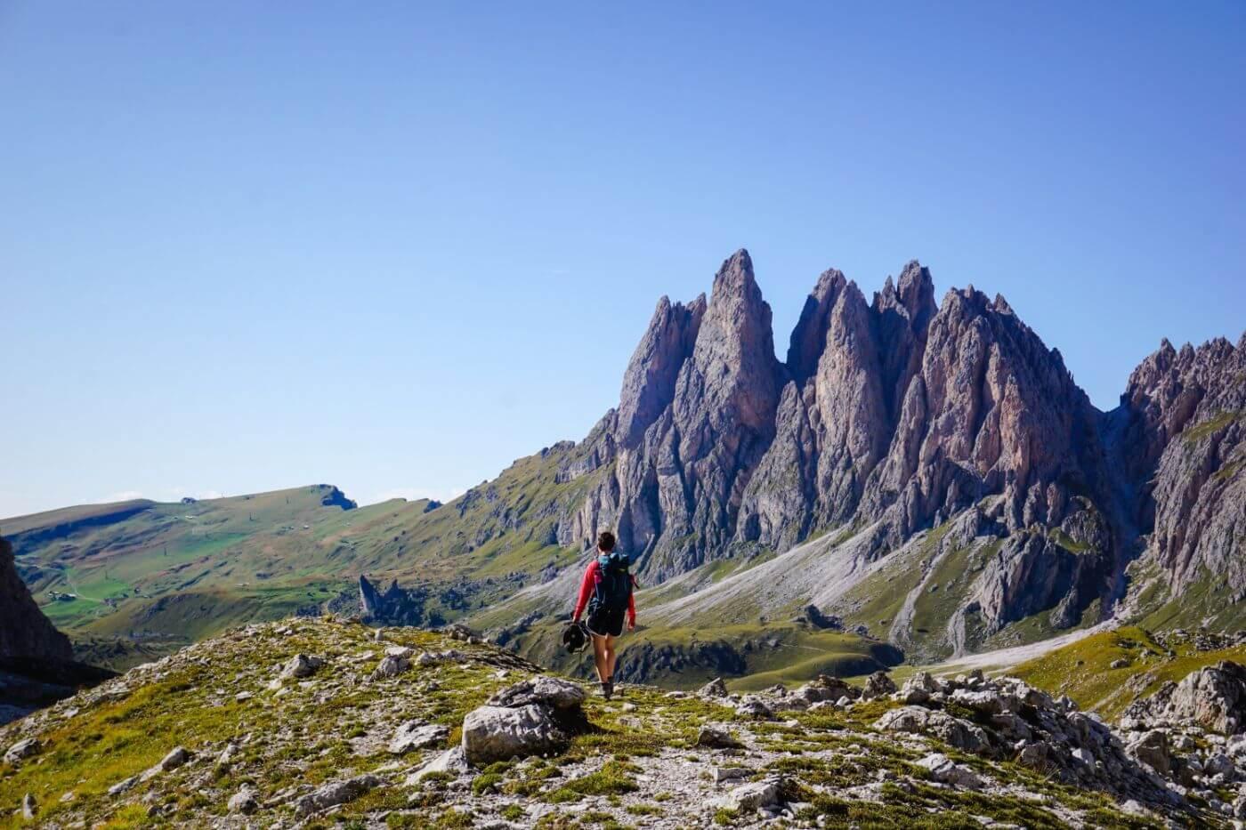 Col dala Pieres Hike, Puez-Odle Nature Park, Dolomites