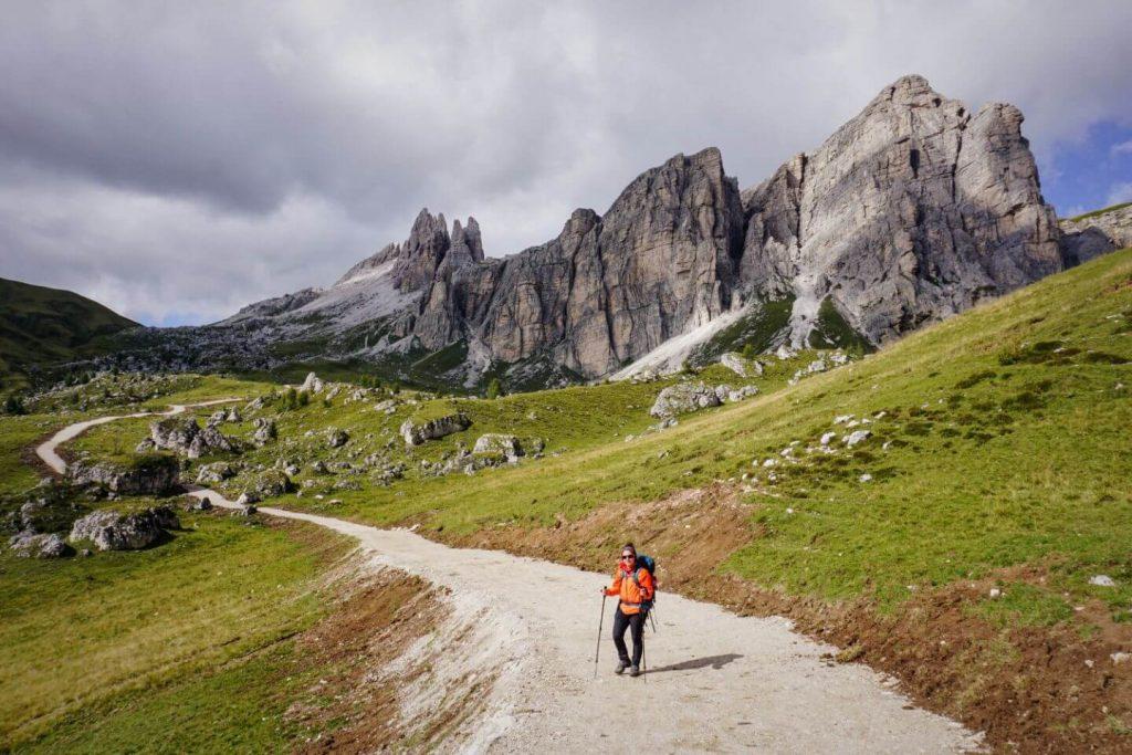 La Rocheta, Alta Via 1 Hiking Trail, Dolomites