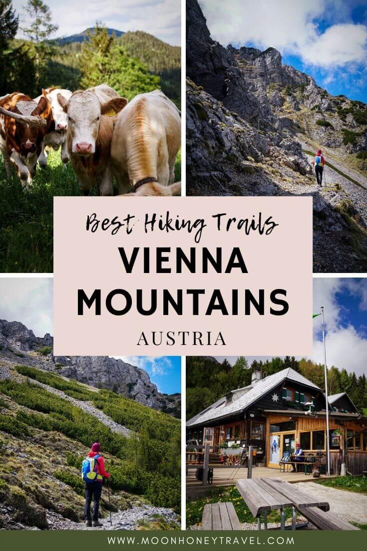 Hiking Vienna Mountains, Vienna Alps, Austria