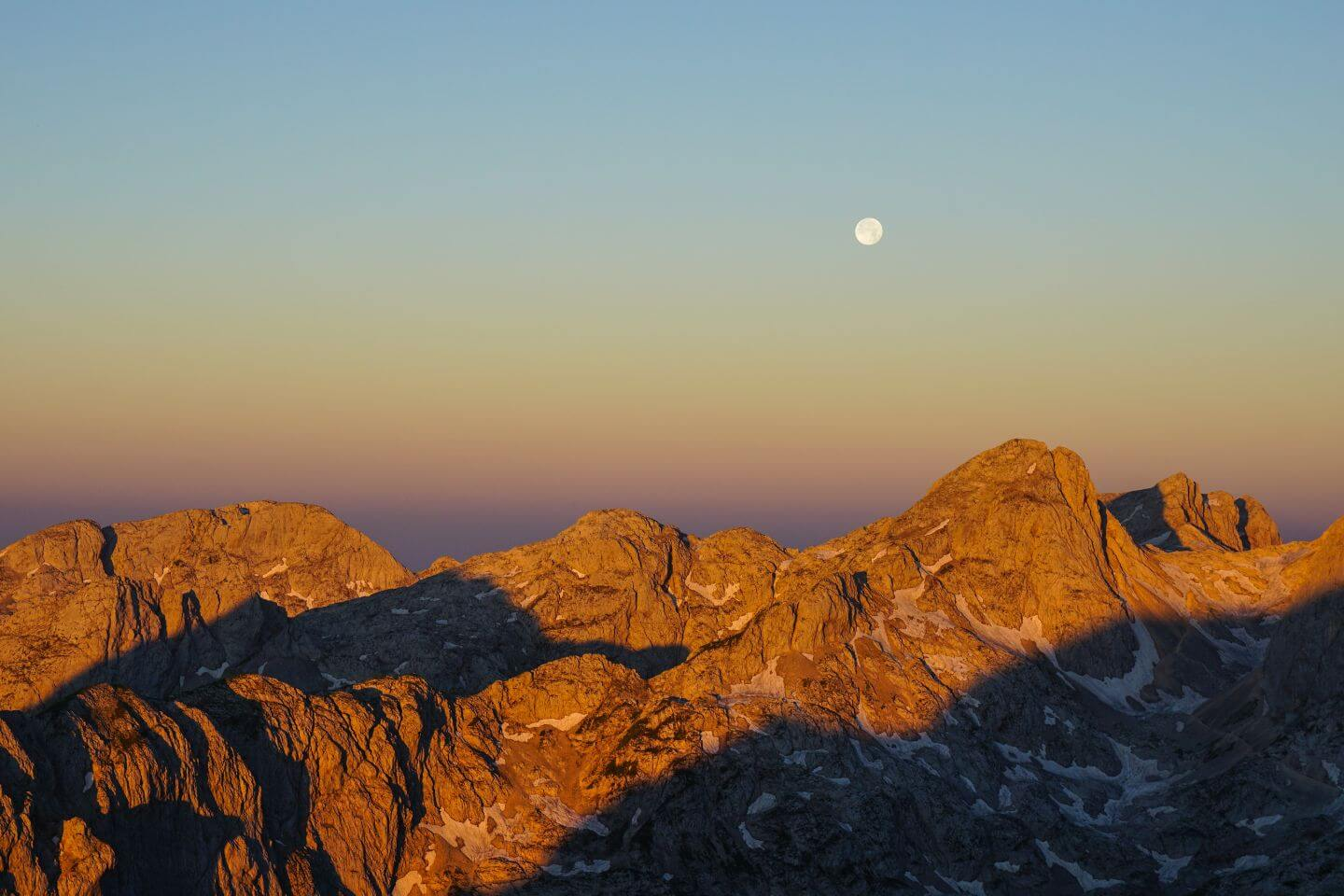 Sunrise from Dom Planika, Julian Alps, Slovenia