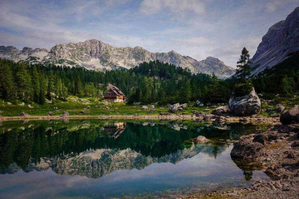 Dvojni jezero (Double Lake), Triglav Lakes Valley Day Hike in the Julian Alps, Slovenia