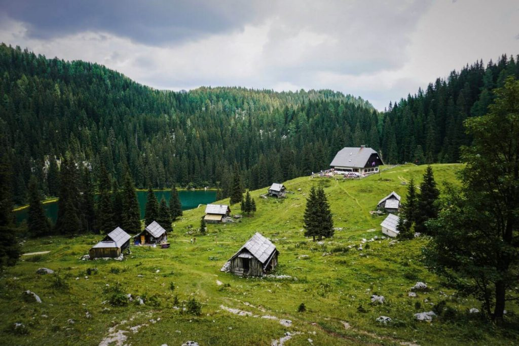 Koča na Planini pri Jezeru, Triglav Lakes Valley Day Hike, Julian Alps, Slovenia