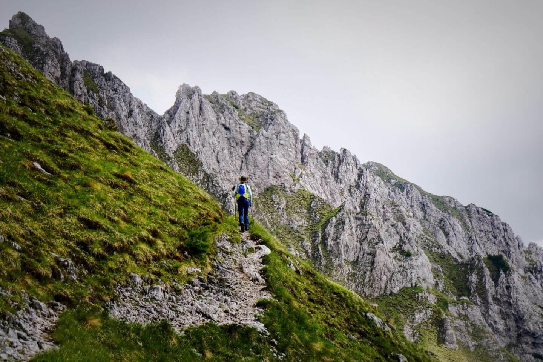 Hiking to Košuta ridge, Karawanks, Slovenia