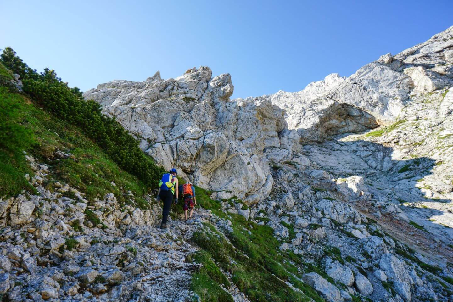 Hiking to the Kamnik Saddle from Logar Valley