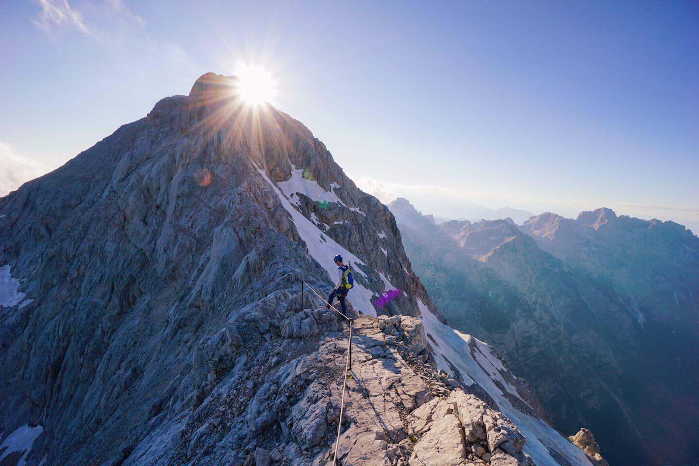 Dom Planika to Mount Triglav čez Mali Triglav, Julian Alps, Slovenia
