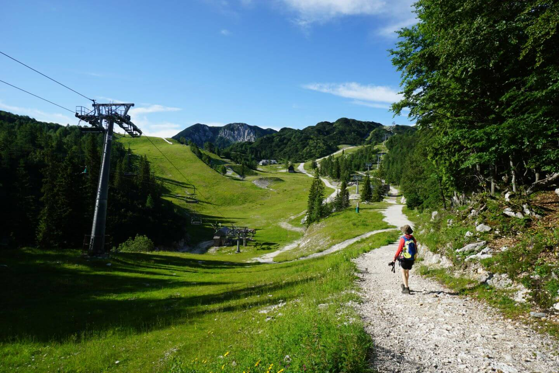Hiking to Orlove Glave Chairlift, Vogel Ski Resort, Slovenia