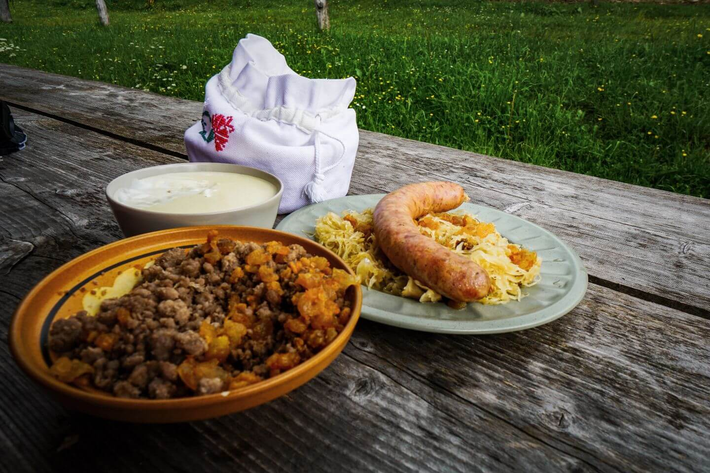Dolga Njiva Lunch, Karawanks, Slovenia