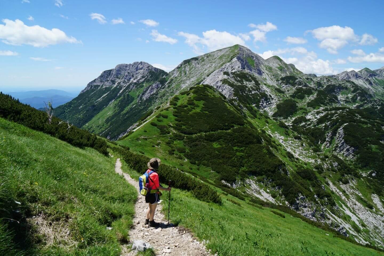 Crossing Šija Slopes to Vogel, Slovenia