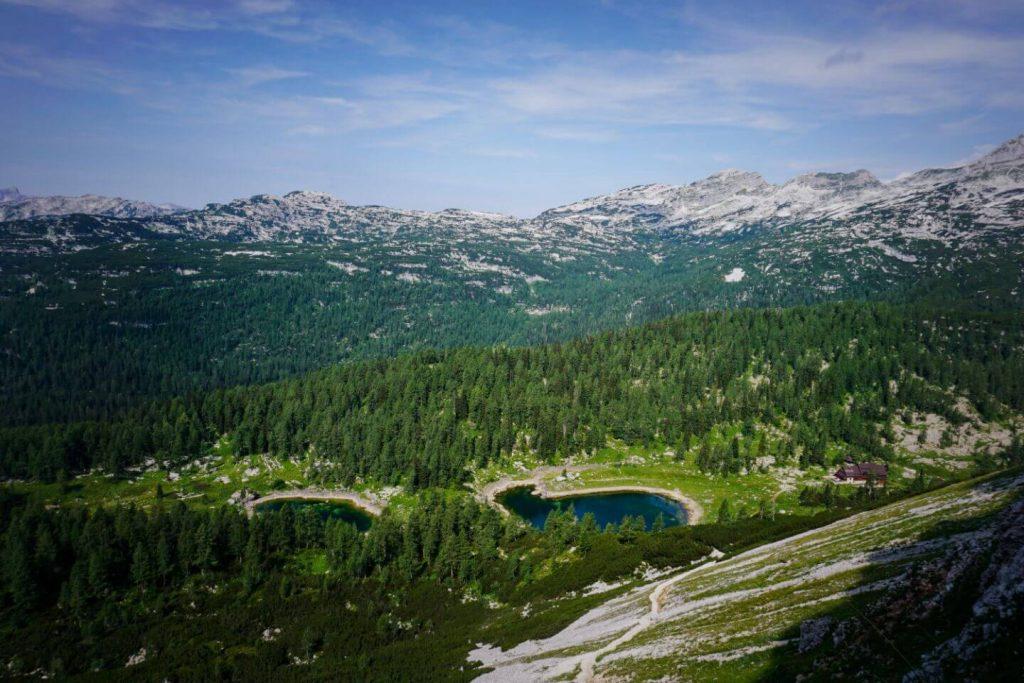 View of Triglav Lakes Valley from Štapce, Slovenia