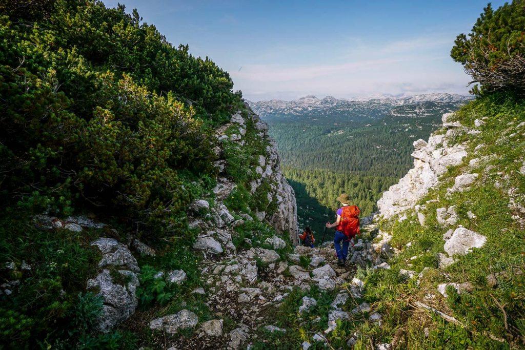 Štapce ridge gap, Triglav Lakes Valley, Slovenia