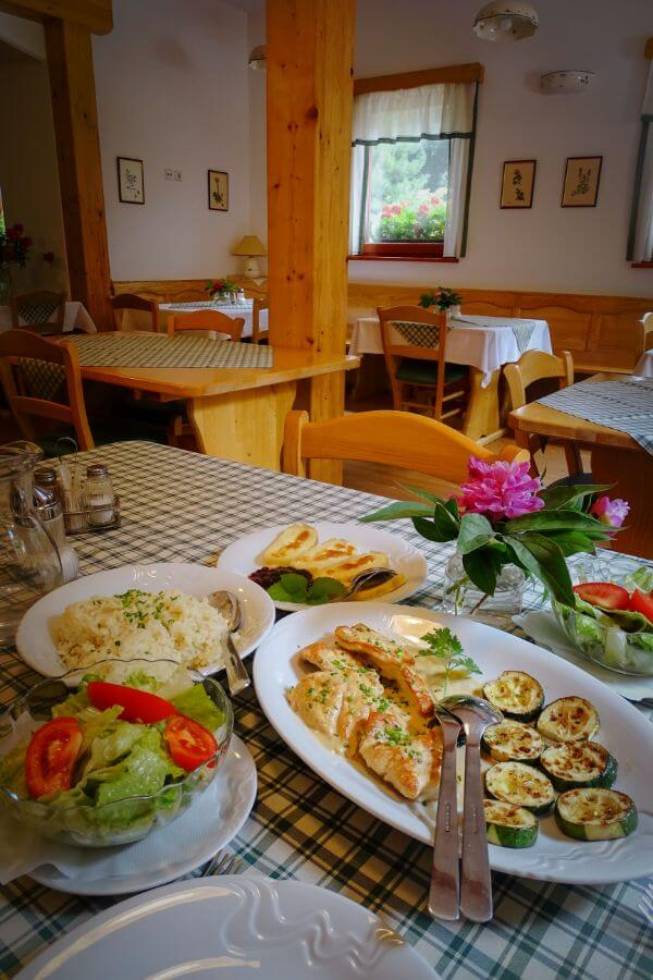 Stoglej Farm Stay, Slovenia, Lunch