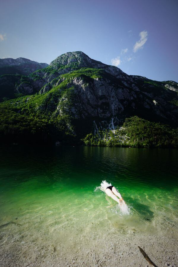 Ukanc, Lake Bohinj Swimming