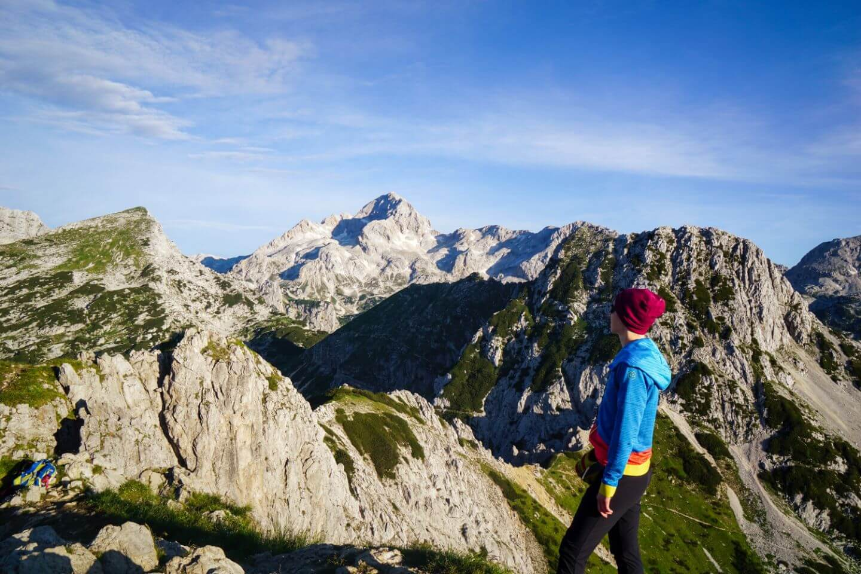 View of Mount Triglav from Viševnik, Julian Alps, Slovenia