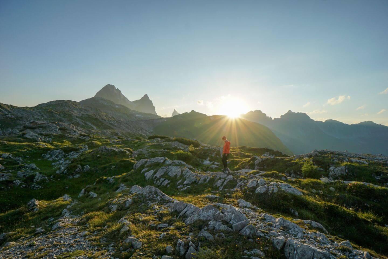 Hiking the Eagle Walk across the Lechtal Alps, Tirol, Austria