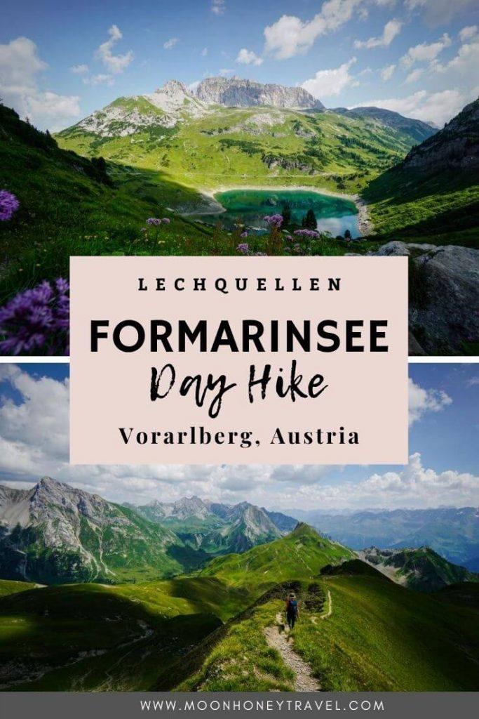 Formarinsee Wanderung bei Lech am Arlberg, Österreich